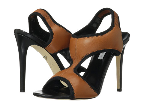 Pantofi Diane Von Furstenberg - Urban - Brandy Nappa/Black Elastic
