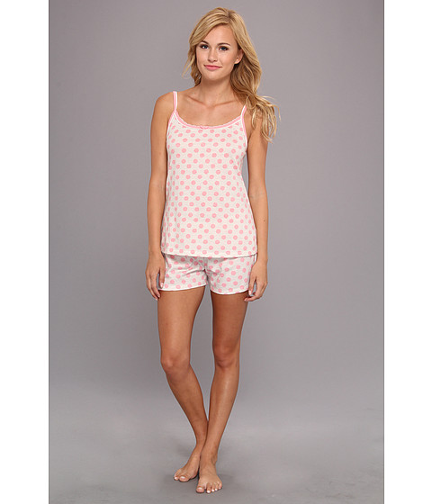 Lenjerie Tommy Hilfiger - Strappy Cami/Shorty Set - Polka Dot Pink