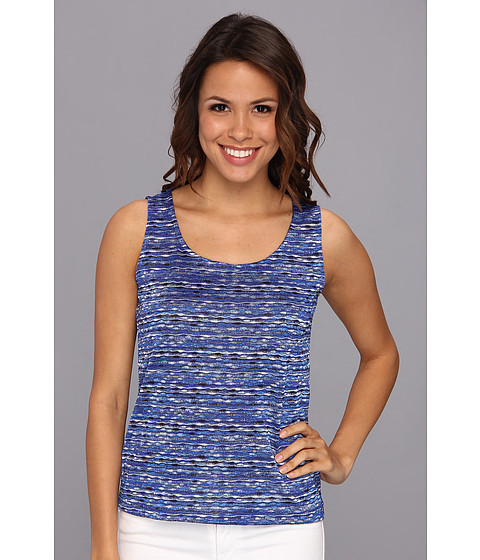 Bluze Jones New York - Sleeveless Shell - Seaport Blue/Black