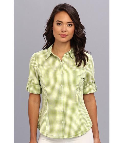 Camasi Jones New York - Fitted Roll Elbow Sleeve Shirt - Apple/White