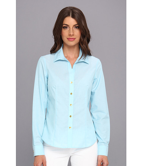 Camasi Jones New York - Non-Iron Easy-Care Fitted Shirt - Cameo Blue