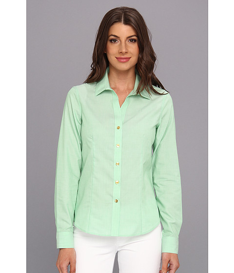 Camasi Jones New York - Non-Iron Easy-Care Fitted Shirt - Kelly Green