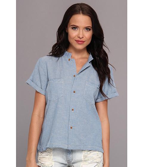 Bluze Maison Scotch - Boxy Fit Short Sleeve Shirt - Turquoise Trip