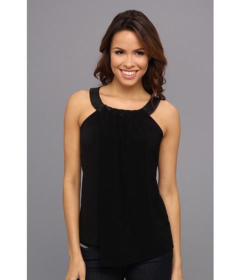 Bluze Calvin Klein - Sleeveless Double Layer Polyurethane Top - Black