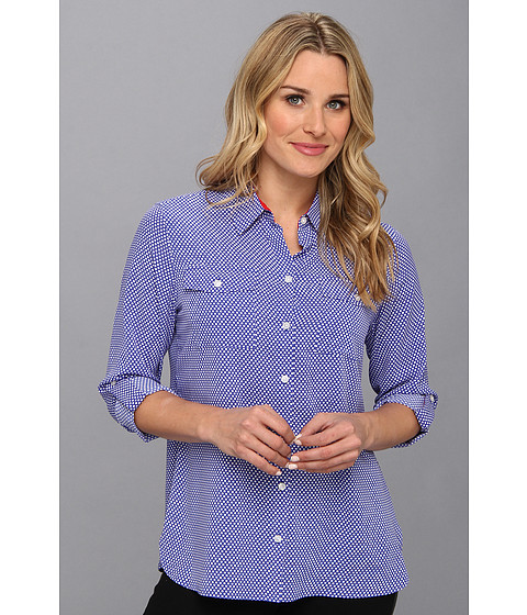 Camasi Jones New York - Roll Sleeve Safari Style Shirt - Seaport/White