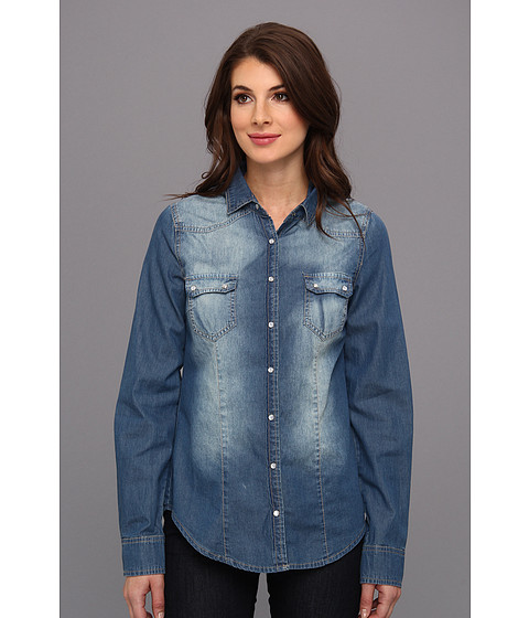 Bluze Christin Michaels - Brelah Denim Top - Blue