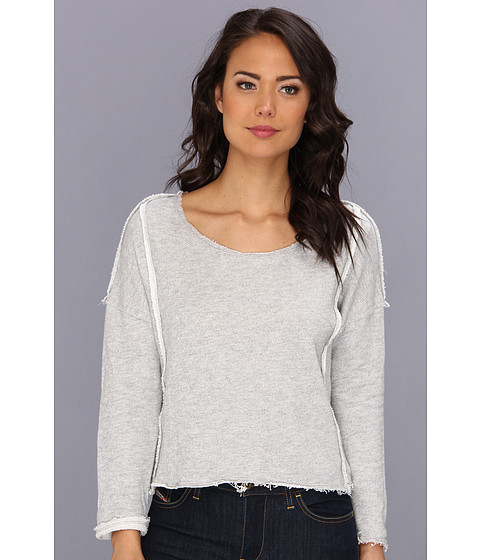 Bluze Free People - Victorian Lace Pullover - Grey Heather
