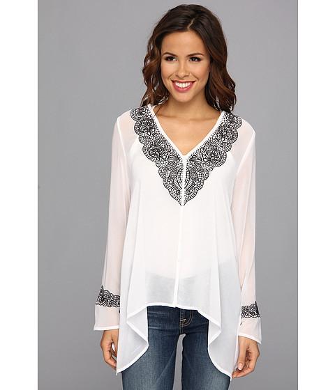 Bluze Karen Kane - Embroidered Handkerchief Top - Off White