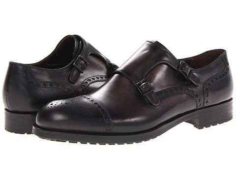 Pantofi Magnanni - Roto - Black/Grey