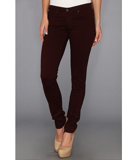 Blugi AG Adriano Goldschmied - The Stilt Cigarette Sateen - Bordeaux