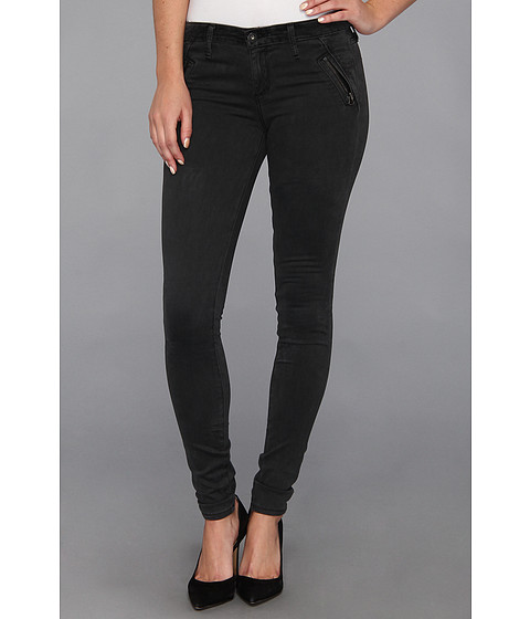 Blugi AG Adriano Goldschmied - The Willow Zip Pocket Extreme Skinny in Sulfur Dark Charcoal - Sulfur Dark Charcoal