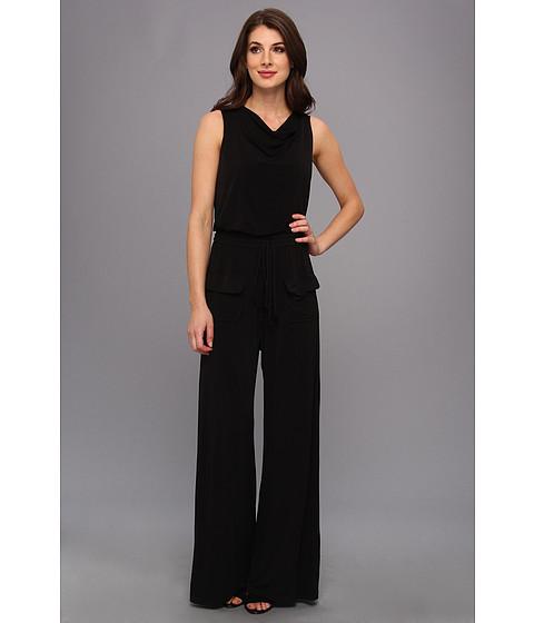 Pantaloni Vince Camuto - Jersey Cowl Neck Jumpsuit - Black