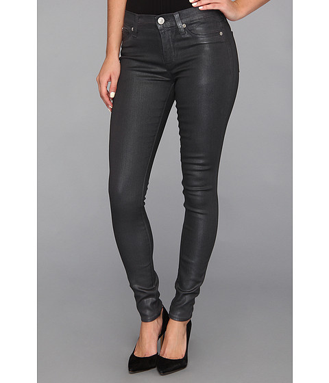 Blugi Hudson - Nico Mid-Rise Super Skinny Metallic Wax - Dawn Grey