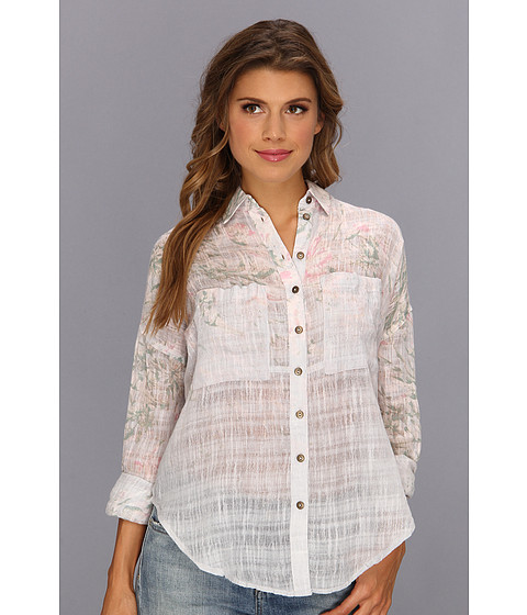 Bluze Free People - Printed Shibori Siren Buttondown - Lilac Combo