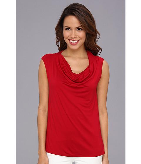 Bluze Karen Kane - Twisted Shoulder Drape Top - Red