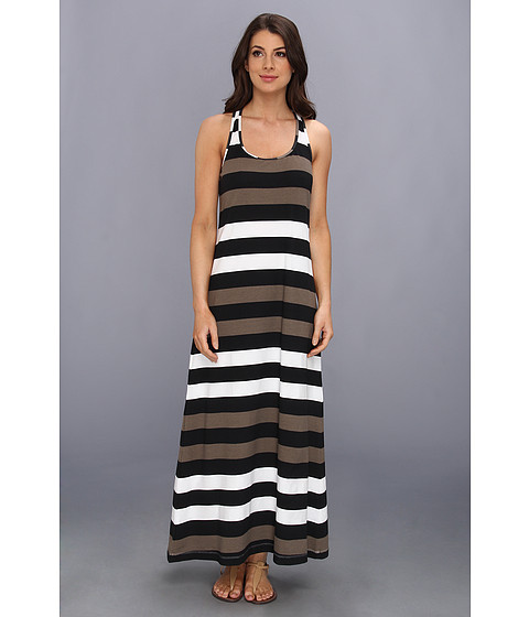 Lenjerie Tommy Bahama - Rugby Stripe Long Tank Dress - Black/Tortuga/White