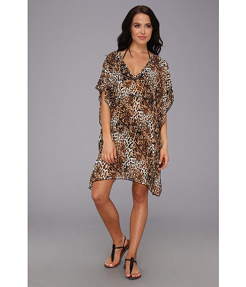 Lenjerie Christin Michaels - Melinda Cover Up - Brown Cheetah