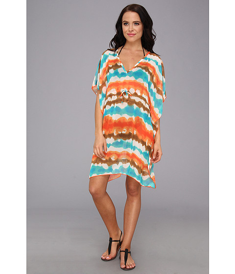 Lenjerie Christin Michaels - Melinda Cover Up - Orange Tye Dye