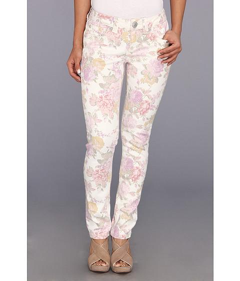 Blugi Seven7 Jeans - Petite Skinny in French Garden w/ Pink Flowers - French Garden w/ Pink Flowers