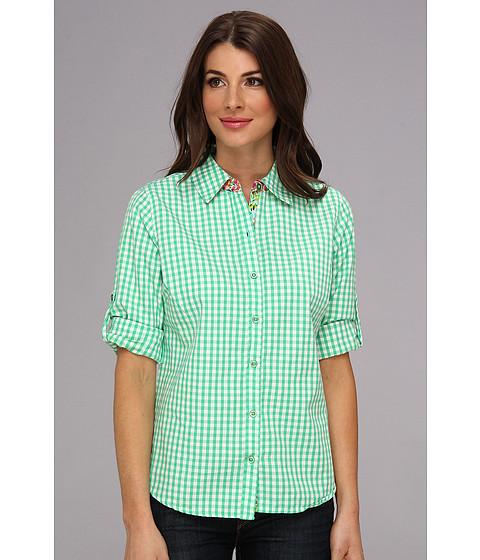 Camasi Caribbean Joe - Roll Sleeve Oxford Shirt - Caribe Green
