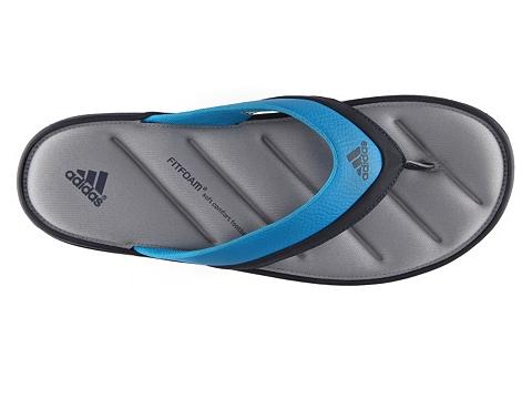 Pantofi adidas - Zeitfrei FitFoam Flip Flop - Black/Blue/Grey