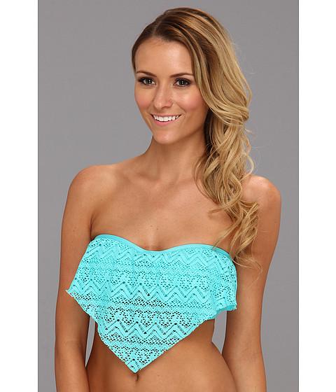 Costume de baie Athena - Cabana Bandeau Ruffle Top - Aqua
