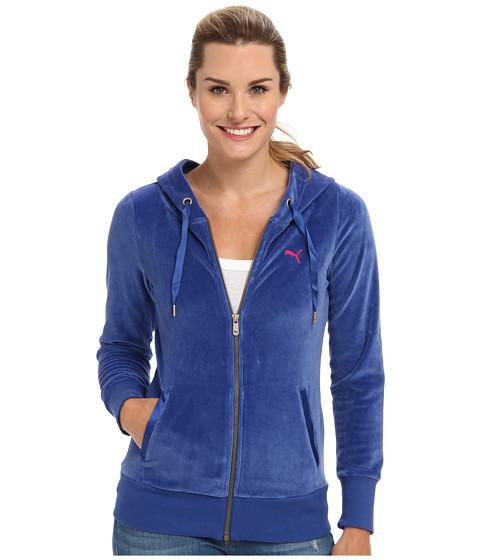 Bluze PUMA - Velour Jacket - Mazzarine Blue