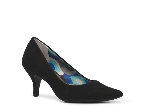Pantofi AK Anne Klein - Isana Suede Pump - Black