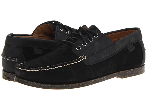 Pantofi Polo Ralph Lauren - Blackley 4 Eye - Black/Black