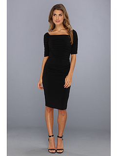 Kilipiruri Laundry by Shelli Segal Off The Shoulder Shirred Dress Black | mycloset.ro