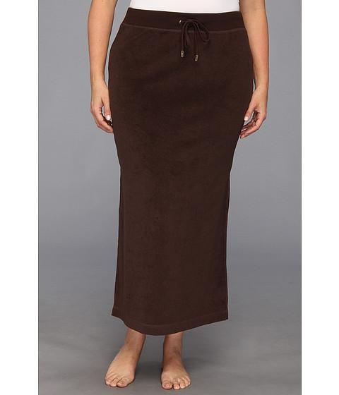 Fuste MICHAEL Michael Kors - Plus Size Terry Cloth Maxi Skirt w/ Side Slits - Chocolate