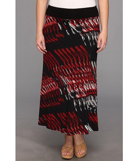 Fuste Karen Kane - Plus Size Contrast Waist Maxi Skirt - Print
