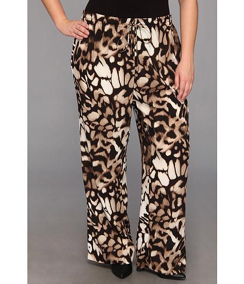 Pantaloni Calvin Klein - Plus Size Printed Drawstring Poly Pant - Birch Combo