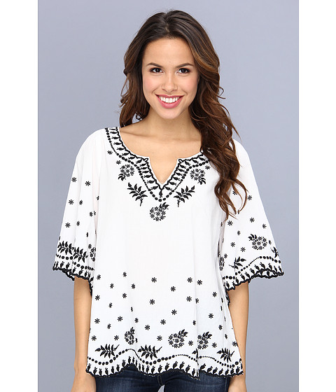 Bluze Karen Kane - Embroidered Peasant Top - Off White