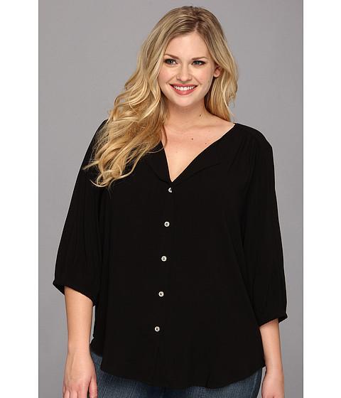 Bluze Karen Kane - Plus Size Blouson Sleeve Shirt - Black