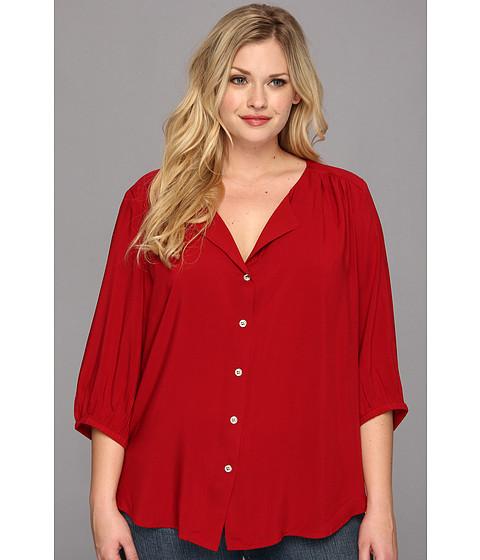 Bluze Karen Kane - Plus Size Blouson Sleeve Shirt - Red