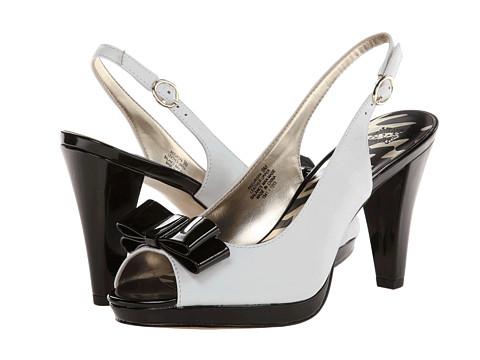 Pantofi Anne Klein New York - Europa - White LE/Black Patent
