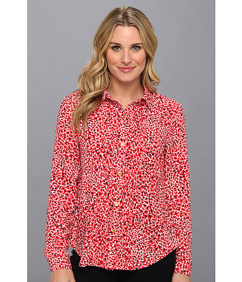 Camasi Jones New York - L/S Button-Up Blouse - Scarlet