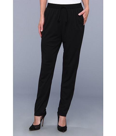 Pantaloni DKNY - Matte Jersey Straight Elastic Waist Pant - Black