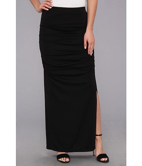 Fuste DKNY - Matte Jersey Maxi Skirt w/ Side Slit - Black