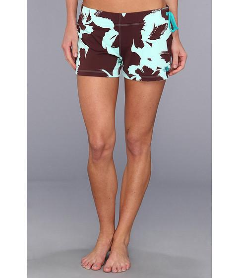 Costume de baie The North Face - Evardine Short - Fudge Brown Flower Print/Jaiden Green