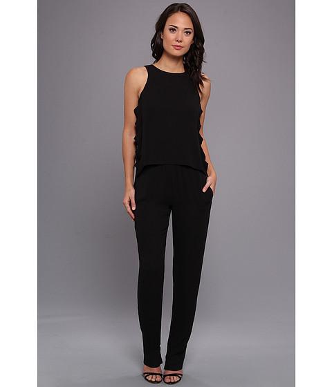 """Pantaloni BCBGMAXAZRIA - \""""Callison\"""" Cutout Square Neck Jumpsuit - Black"""