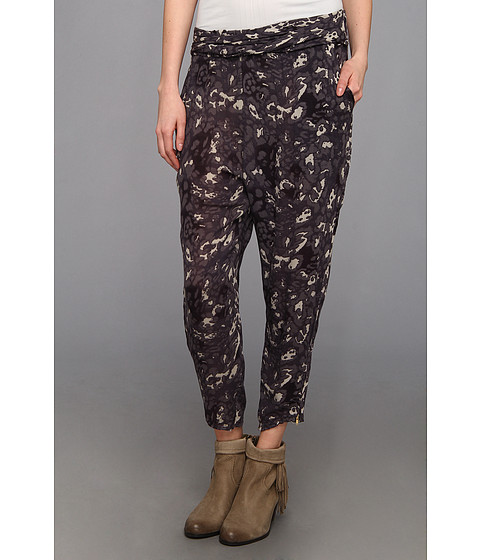 Pantaloni Free People - Cheetah Twisted Harem Pant - Black Combo