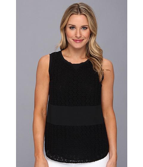 Bluze Calvin Klein - S/L Grid Lace Top - Black