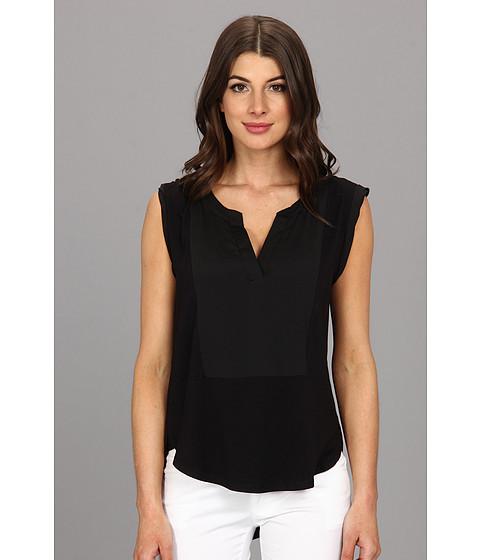 Bluze Calvin Klein - S/L Hi-Low Combo Top - Black