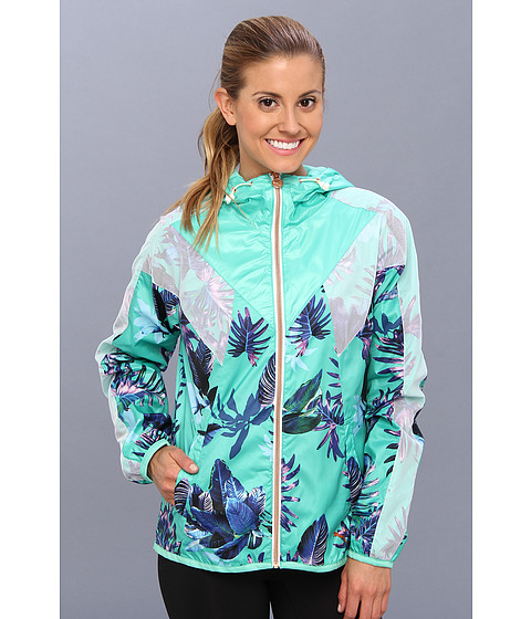 Bluze PUMA - Tropical Print Windbreaker - Electric Green/All Over Print