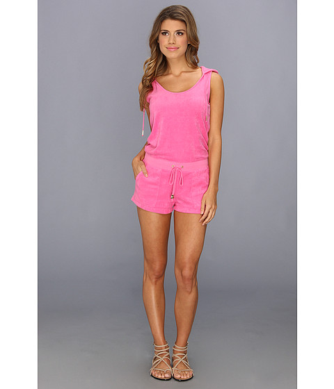 Pantaloni Juicy Couture - Micro Terry Hoodie Romper - Highlighted Pink