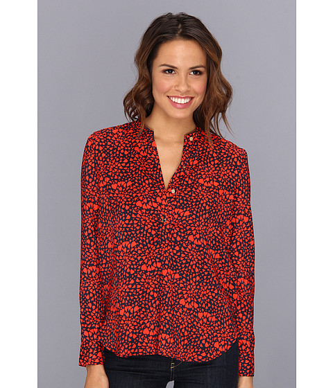 Bluze Juicy Couture - Printed Satin Shirting Top - Regal Heart