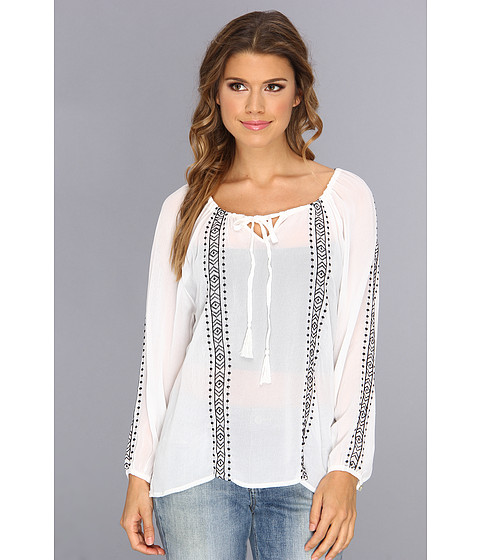 Bluze Sanctuary - Embroidered Boho - White