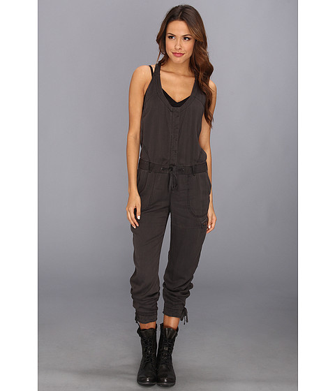 Pantaloni Free People - Utilitarian Jumpsuit - Washed Black